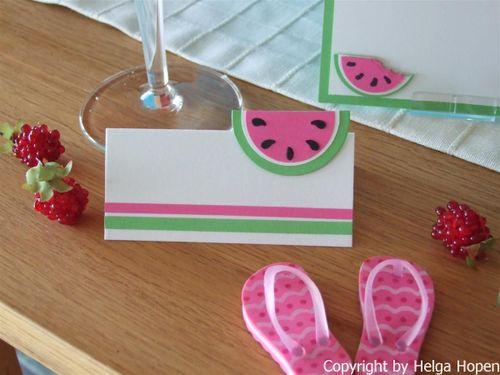 Melonen Karte u. Deko 021 (Custom)