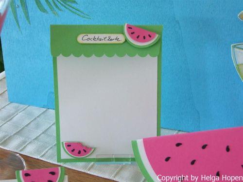 Melonen Karte u. Deko 019 (Custom)