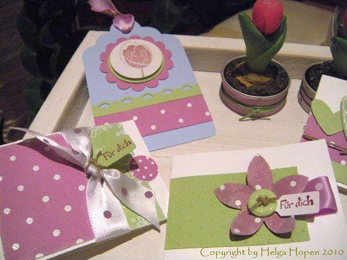 Kl Kärtchen Orchideenpink mattgrün4