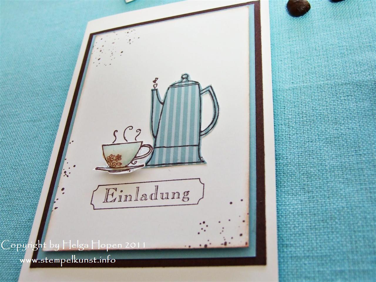 einladung zum frühstück (stempelkunst-by-helga), Einladung