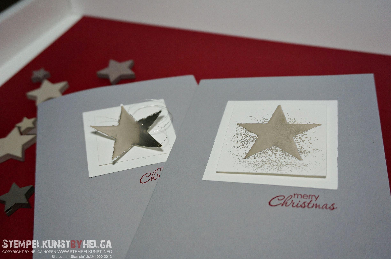 Edle Weihnachtskarten Stempelkunst By Helga