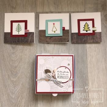 2#malerischeWeihnachten#Holzdekor#Geschenkband#2017-10-22