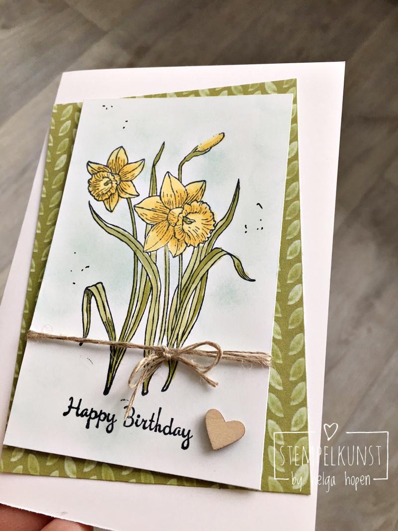 2#narzissen#flowers#blumen#narcissus#karte#geburtstag#card#birthday#2018-03-06