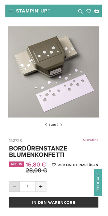 5#blumenkonfettistanze